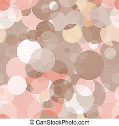 Un simple patrón de vector sin sentido, círculos