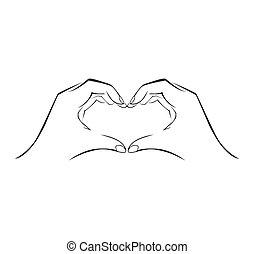 Un simple símbolo de amor a mano