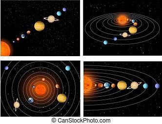 Un sistema solar muy grande