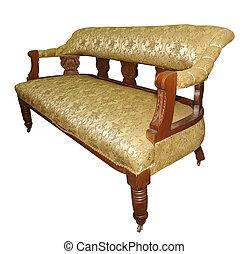 Un sofá antigüo