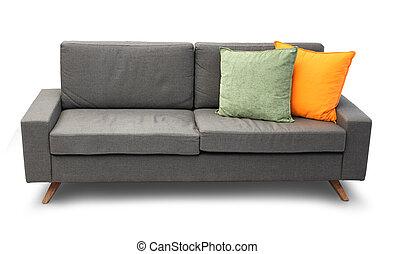 Un sofá cómodo con almohadas