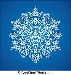 Un solo copo de nieve detallado
