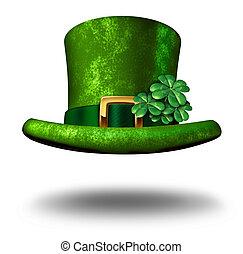 Un sombrero de copa verde