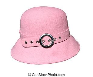 Un sombrero rosado