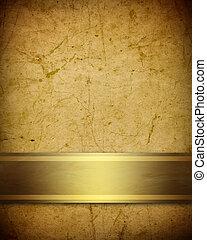 Un suave pergamino marrón con cinta