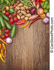 Un surtido de verduras frescas