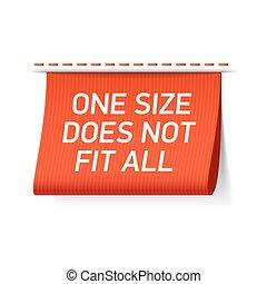 Un tamaño no encaja con todas las etiquetas