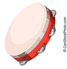 Un tambor en blanco