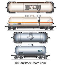 Un tanque de ferrocarril