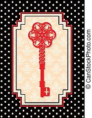 Un tapiz de la llave antigua