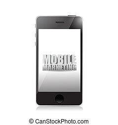 Un teléfono inteligente con una señal de marketing móvil