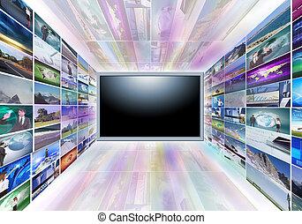 Un televisor de pantalla plana