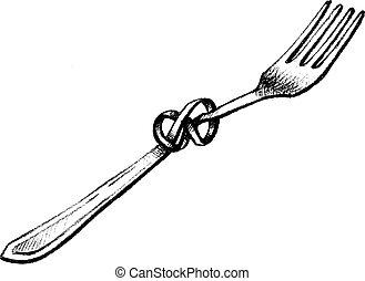 Un tenedor retorcido