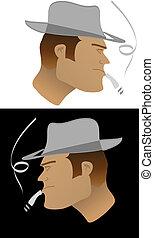 Un tipo duro con sombrero