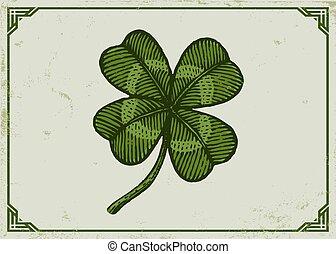 Un trébol de la suerte verde