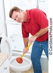 Un trabajo de fontanería desagradable