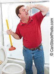 Un trabajo sucio en el baño