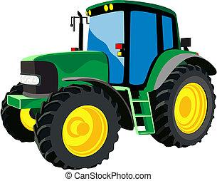 Un tractor agrícola verde