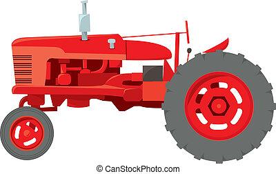 Un tractor de granja clásico