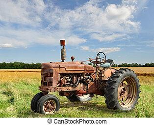 Un tractor de vinagre
