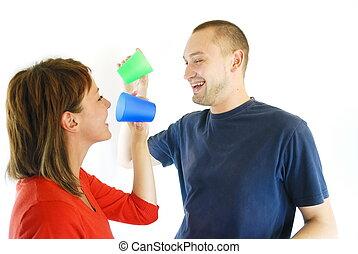 Un trago de pareja feliz