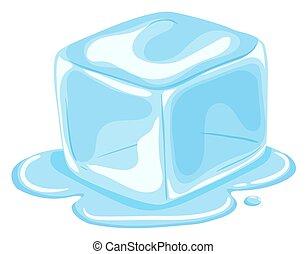 Un trozo de hielo derritiéndose