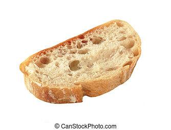 Un trozo de pan de ciabatta