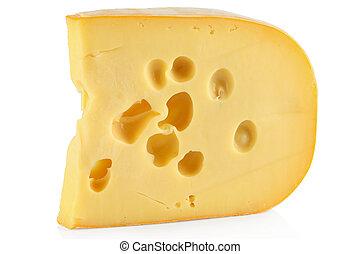 Un trozo de queso.
