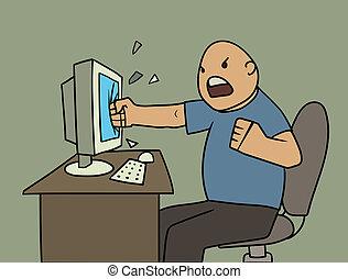 Un usuario enojado