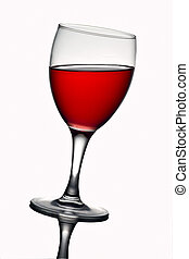 Un vaso de vino con vino tinto