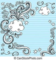 Un vector de dibujos de nubes