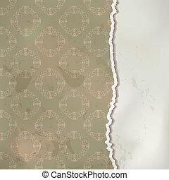 Un vector de papel antiguo