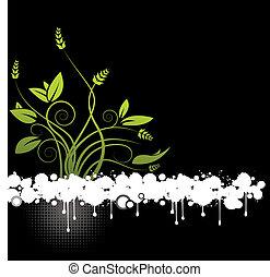 Un vector floral abstracto