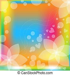 Un vector floral colorido