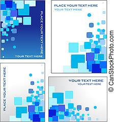 Un vector mosaico azul
