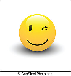 Un vector sonriente
