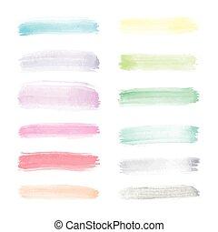 Un vector transparente y transparente de pinceles en colores de espectro