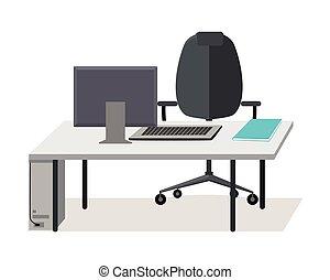 Un vector web de vectores de trabajo en diseño plano