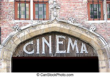 Un viejo cartel de cine