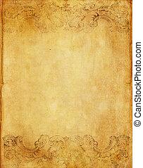 Un viejo fondo de papel grunge con estilo victoriano antiguo