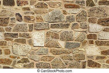 Un viejo fondo de textura de la pared de piedra