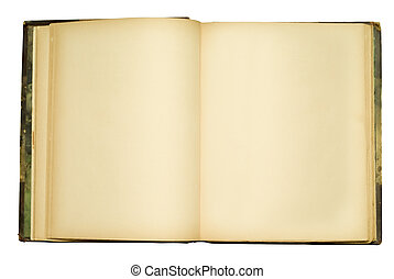 Un viejo libro abierto
