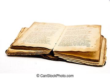 Un viejo libro de antigüedades, aislado
