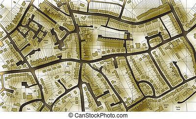 Un viejo mapa de viviendas