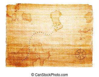 Un viejo mapa del tesoro