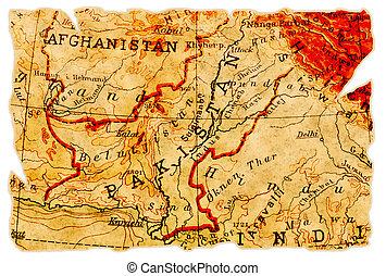 Un viejo mapa paquistaní