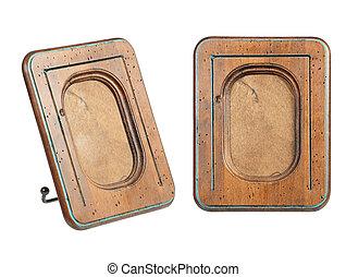 Un viejo marco de madera
