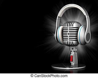 Un viejo micrófono