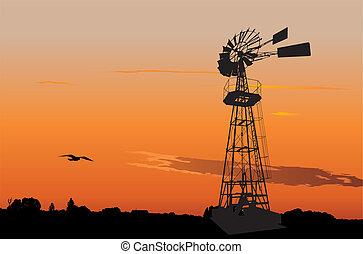 Un viejo molino de viento