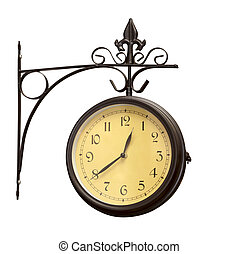 Un viejo reloj antiguo grunge
